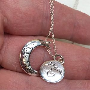 Jewelry - Sterling Love You to the Moon & Back Mom Necklace